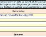 10-Tage-Regel Einnahmen - Umsatzsteuer-Tabelle