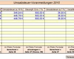 Umsatzsteuer-Voranmeldung monatliche Abgabe