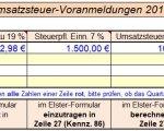 Umsatzsteuer-Voranmeldung Quartalsabgabe